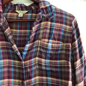 Lucky Brand flannel button up size small